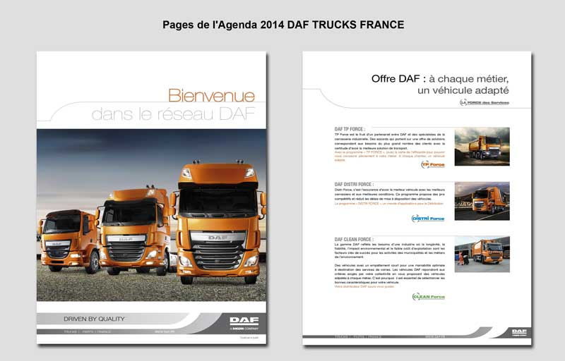 Pages de l'Agenda 2014 DAF TRUCKS FRANCE