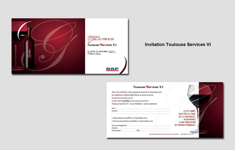 Invitation Toulouse Service VI